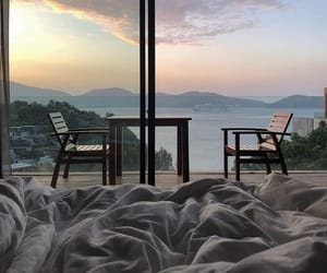 view, bed, and home image
