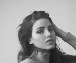 beauty, black and white, and models image