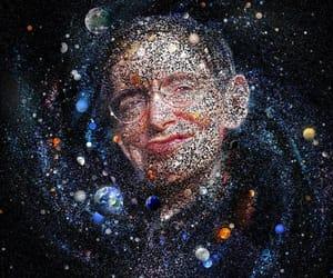 art, stephen hawking, and black hole image