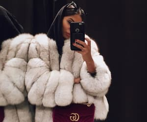 fashion, outfit, and fur image
