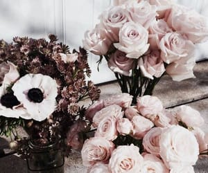 aesthetic, flowers, and rose gold image