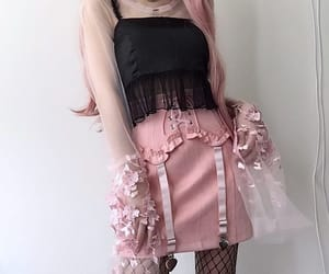 black, clothers, and dress image
