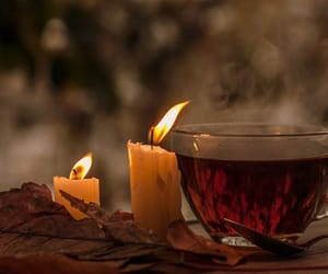 autumn, tea, and candles image