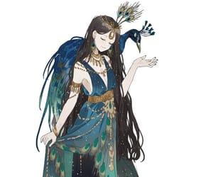 anime, anime girl, and feathers image