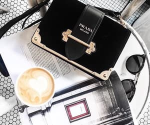 coffee, fashion, and Prada image