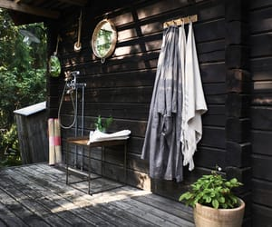cabin, decor, and home image