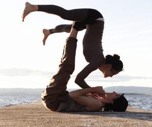 couple, yoga, and love image