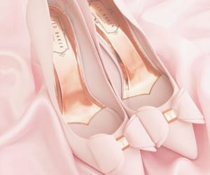 bow, fashion, and pink heels image