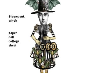 etsy, halloween doll, and collage sheet image