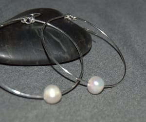 etsy, sterling silver, and silver hoops image