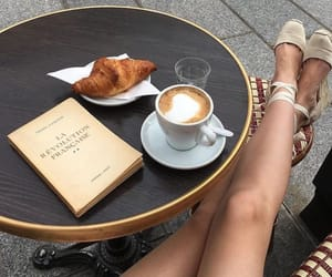 coffee, girl, and paris image