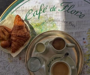cafe, cafe de flore, and cappuccino image