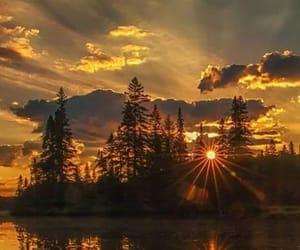 nature, sunset, and landscape image