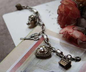 charm bracelet, ooak jewelry, and etsy image
