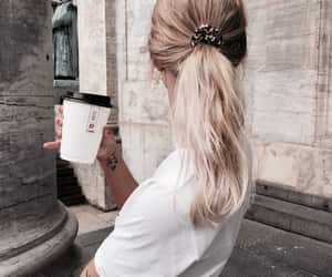 coffee, fashion, and hair image