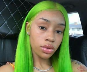 fashion, hali, and green hair image