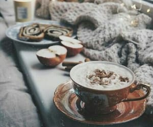 autumn, coffee, and beautiful image