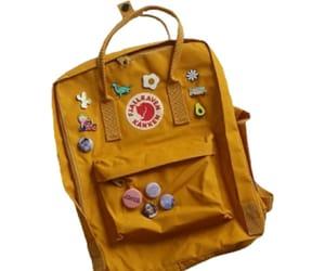 backpack, bag, and yellow image