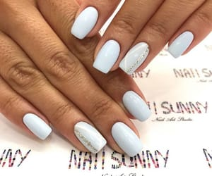 baby blue, beautiful, and nails image