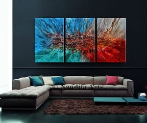 abstract art, etsy, and modernart image