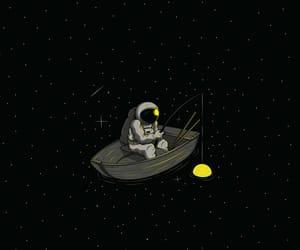 astronauta, cool, and estrellas image