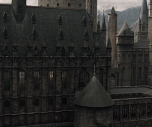 castle, hogwarts, and architecture image