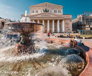 area, moscow, and fountain image