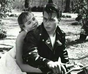 johnny depp, cry baby, and black and white image
