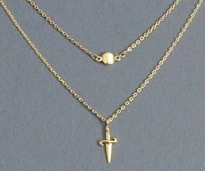 charm, gold necklace, and pendant image