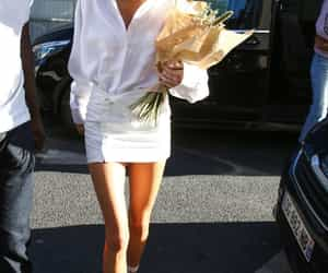 fashion, street style, and all white image