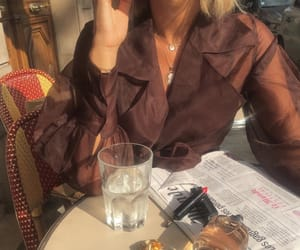 cafe, earrings, and fashion image