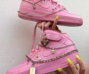 art, shoes, and pink image