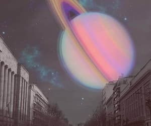 planet, saturn, and galaxy image