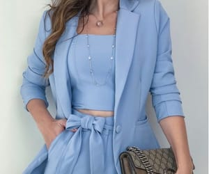 baby blue, bag, and blazer image