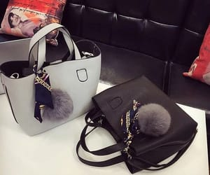 bags, black, and grey image