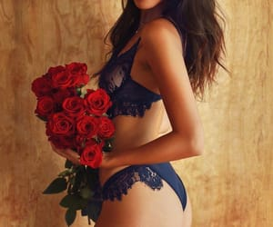 lingerie, cindy kimberly, and roses image
