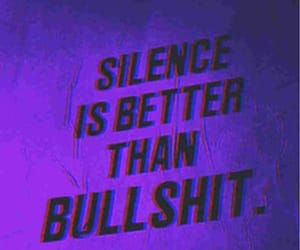 quotes, silence, and purple image