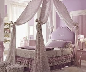 bed, canopy, and pillows image