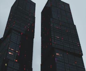 city, rain, and aesthetic image