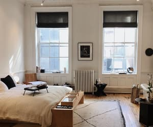 bed, bedroom, and new york image