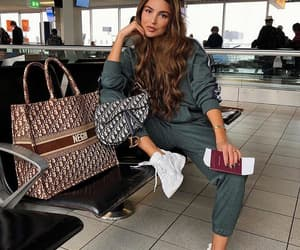fashion, travel, and airport image