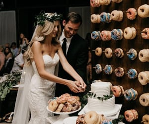 wedding, donuts, and cake image