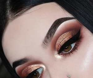 eyeliner, eyeshadow, and girl image