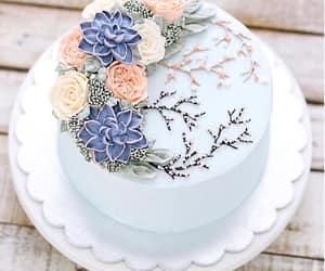 Bleu, blue, and cake image