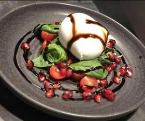 basil, tomatoes, and food image