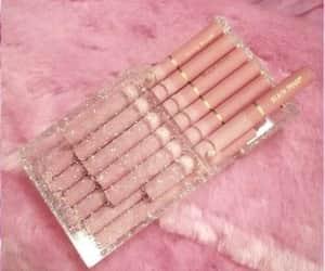 pink, cigarette, and smoke image