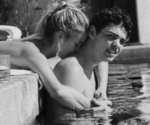 black and white, couple, and crush image