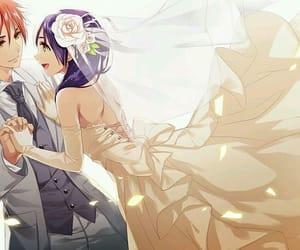 anime, couple, and food wars image