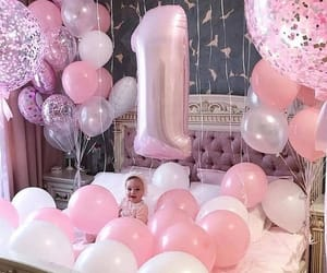 babies, balloons, and pink image