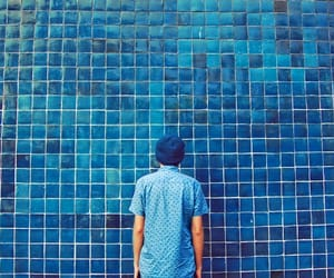 blue, wall, and photography image